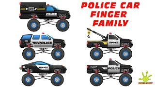 Police Car Finger Family Rhyme | Finger Family Songs