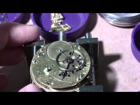 How I take apart a fusee pocket watch. Perry. Liverpool.