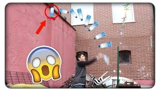 Water  Bottle Flip Trick Shots !!