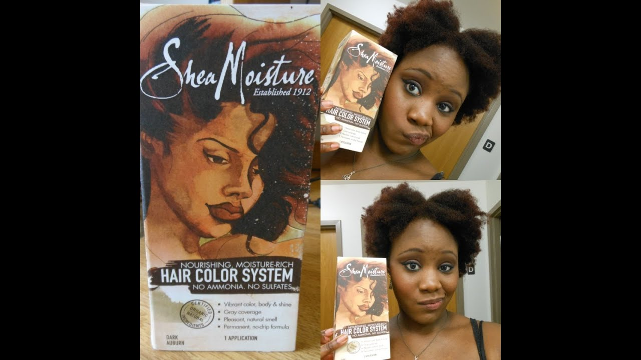 Review Amp Tutorial NEW Shea Moisture Hair Color System
