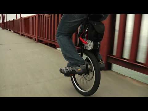 MythBuster Adam Savage + SBU (Self-Balancing Unicycle) Video