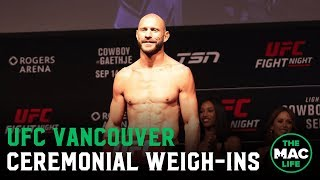 UFC Vancouver Ceremonial Weigh-Ins: Main Card (Highlights)