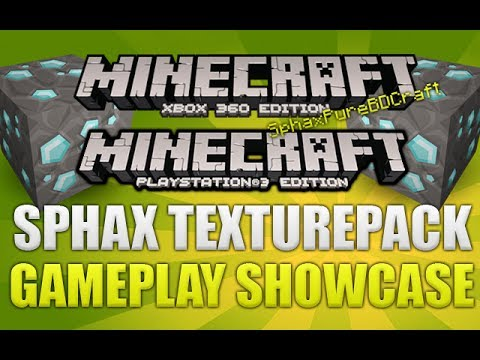Minecraft Xbox 360 & PS3 Sphax Texturepack Gameplay Showcase [Sphax Review]