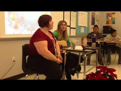 Manassas Park High School/ ESOL Class/ Elizabeth Meitzler and Miss Secrets