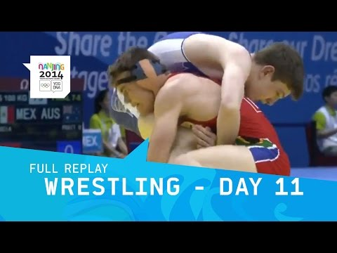 Wrestling -Men's Freestyle Finals   | Full Replay | Nanjing 2014 Youth Olympic Games
