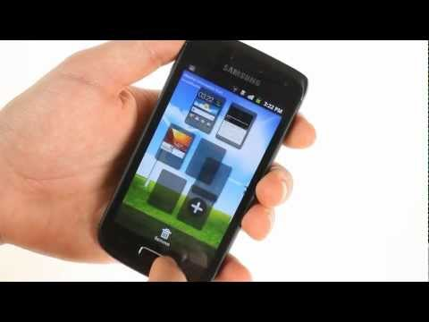 Samsung Galaxy W I8150 user interface demo