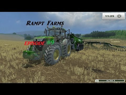 Rampt Farms #9  the cows get some food  (Farming simulator 2013 Titanium ) pc