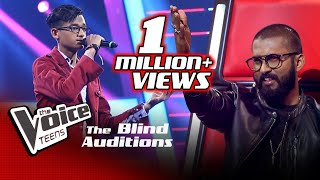 Imesh Madushanka | Yaara O Yaara | Blind Auditions | The Voice Teens Sri Lanka