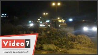 شاهد القمامة تحاصر شارع بورسعيد بمنطقة حدائق القبة