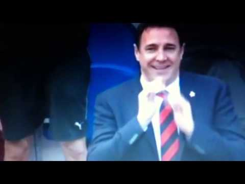Malky Mackay reacts to a fart