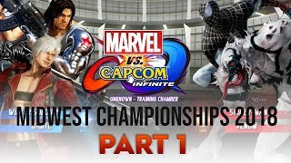 [ Marvel vs. Capcom: Infinite ] Midwest Championships 2018 - PART 1 (1080p/60fps)