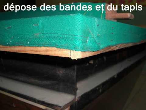 Changement Des Bandes Et Tapis Sur Billard Francais Toulet Youtube