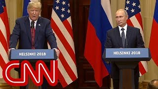 Reporter asks Putin: Do you have compromising info on Trump?