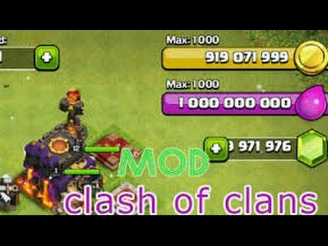 HOW download clash of clans mod unlimited gold +gens for free