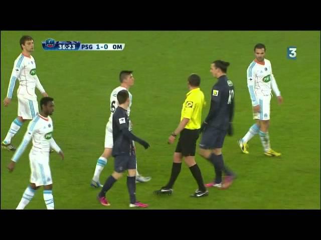 Joey Barton se moque du nez de Zlatan (27/02/13) PSG-OM