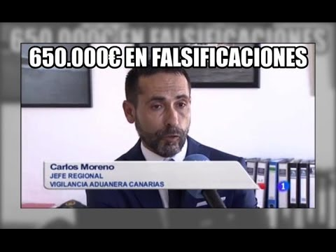 650.000€ en falsificaciones en Gran Canaria - Vigilancia Aduanera(SVA)