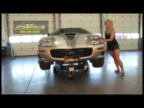 Girl Moves Car With Rolling Jack Stand Youtube