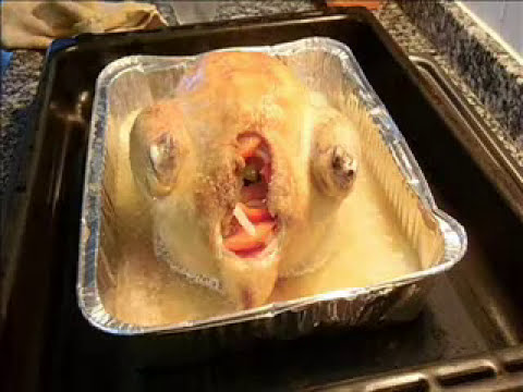 Pollo relleno al horno.