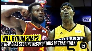 Will Bynum Goes Off for 33 Points at Big3! Stephen Jackson Trash Talking vs Chicago Crowd!