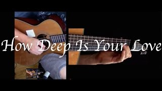 Bee Gees How Deep Is Your Love  Acoustic Guitar cover Fingerstyle