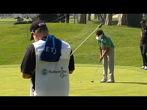 Bubba Watson nearly eagles his first hole at Northern Trust