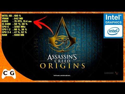 Assassin's Creed Origins Na Intel HD Graphics Roda Liso ? #452