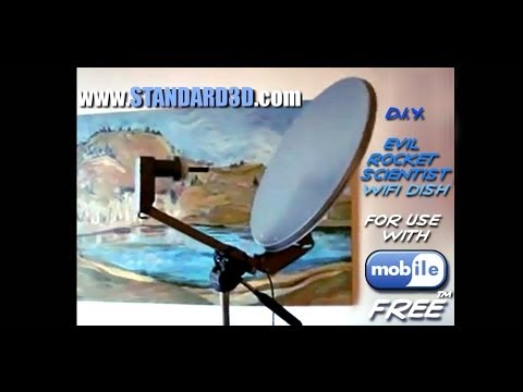 How to build a DIY long range wireless usb free wifi antenna satellite dish booster tutorial 2015