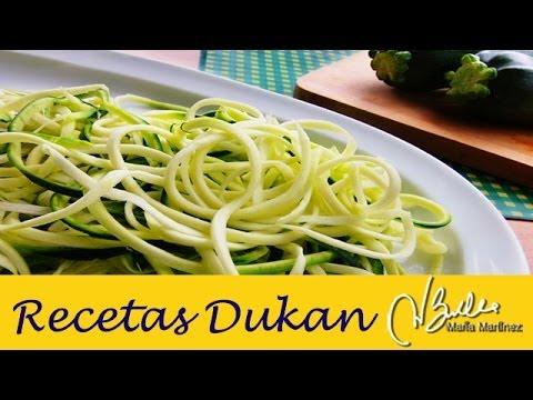Cómo hacer  Espaguetis de Calabacin / Zucchini Pasta / Macarrão de abobrinha Dukan