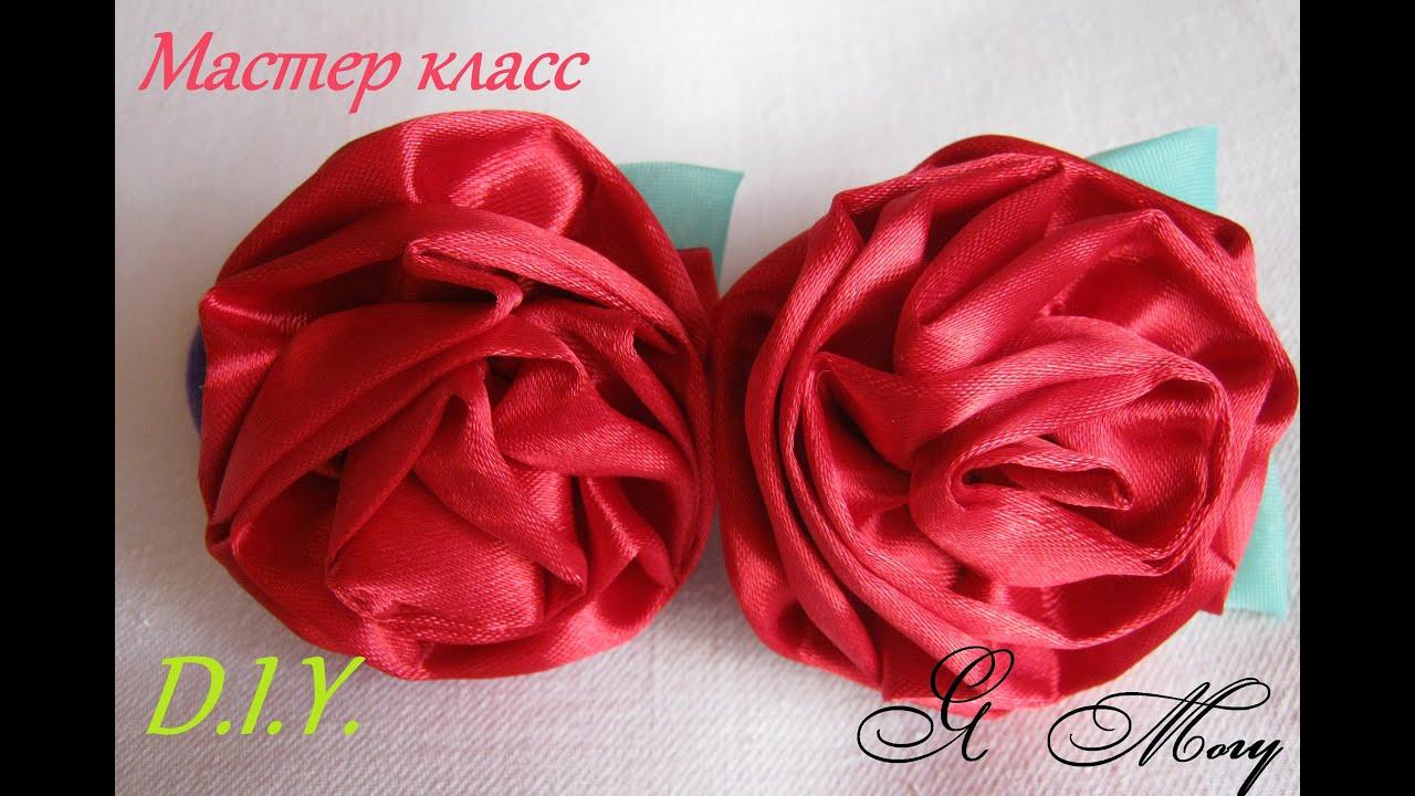 Розы из атласных своими руками 282