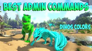 ARK XBOX ONE & PS4 - ADMIN CONSOLE COMMANDS BEST & MOST USEFUL COMMANDS
