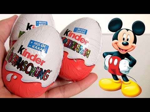 Mickey Kinder Surprise Eggs Donald Duck, Daisy Duck & Goofy Mickey Mouse Clu
