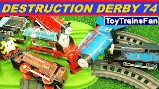 Thomas & Friends Destruction Derby #74 - Trackmaster toy trains. Pociagi Tomek i Przyjaciele