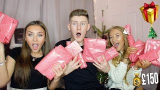 £150 PRESENT SWAP w/LITTLE SISTER & GIRLFRIEND!! (OPENING CHRISTMAS PRESENTS EARLY)