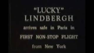 Charles Lindbergh newsreel and ticker tape parade NYC 1927