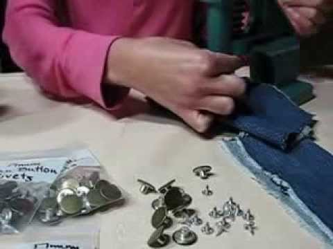 Jeans Buttons And Rivets Jean Button Rivet Die For Hand