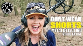 DONT WEAR SHORTS when metal detecting - holiday extra video