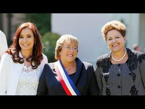 No Chile, Dilma brinda a posse da presidenta Michelle Bachelet