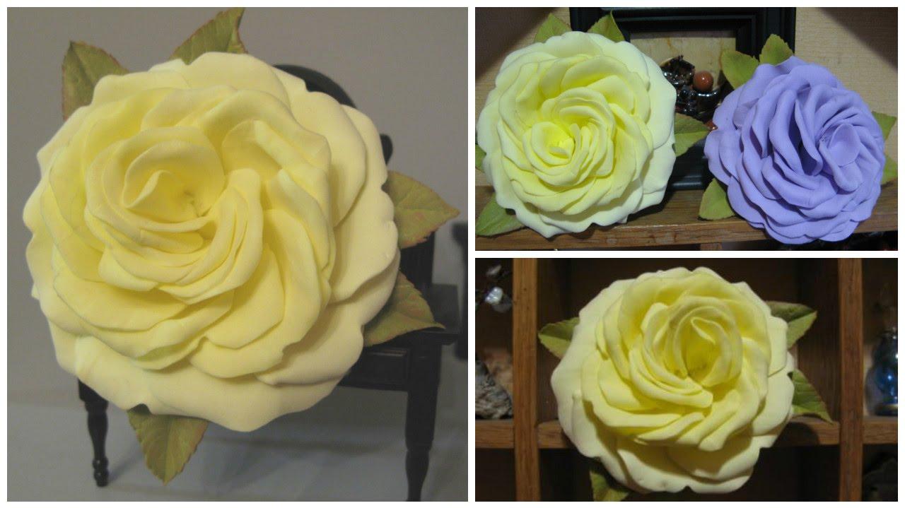Большие розы из фоамирана мастер класс с пошаговым 62