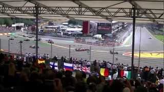 HUGE CRASH Formula 1 - Spa Francorchamps Belgium 2-9-2012 (Grandstand Gold 8)