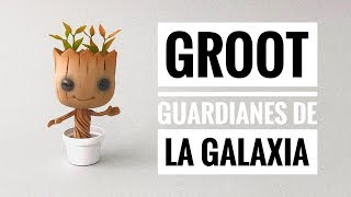 How to Make Groot of Guardians of the Galaxy |  Cold Porcelain | Flexible dough
