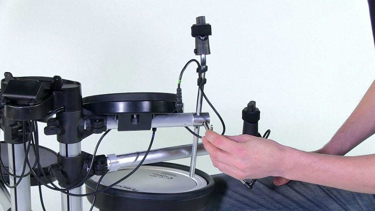 roland hd 3 v drums lite setup youtube. Black Bedroom Furniture Sets. Home Design Ideas