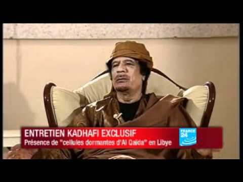Interview exclusive de Mouammar Kadhafi sur FRANCE 24