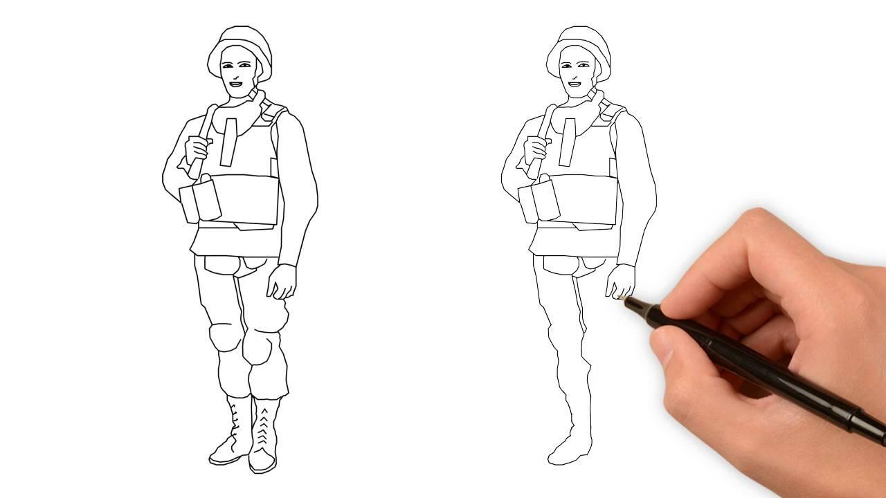 первую очередь, как нарисовать солдата для начинающих шерстяное термобелье лучше