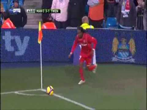 Manchester City - FC Twente Uefa Cup Goals Video