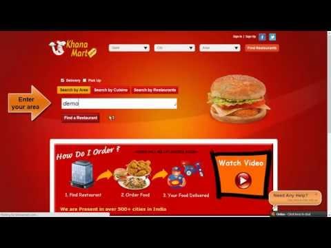 KhanaMart - How to Order Food online?