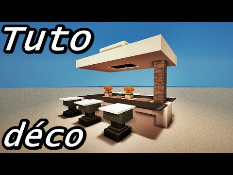 Minecraft tuto d co int rieur les tables youtube for Bar interieur maison