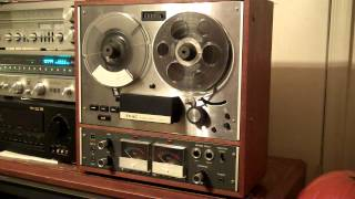 TEAC A-4010-S Auto Reverse Reel to Reel Tape Recorder. Cleaned, Lubed, New Blts Nice. ZCUCKOO