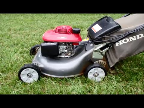 Honda HRR216 Harmony II Lawn Mower with the Quadra Cut System – Final Look & Start - August 9. 2014