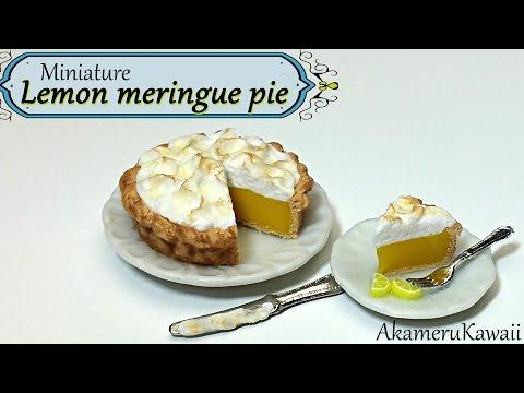 Miniature Lemon Meringue Pie - Polymer Clay Tutorial