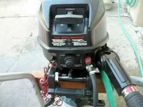 cold start 1988 Sears Gamefisher (Force built) 7.5hp outboard motor